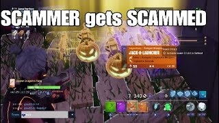 SMARTEST FORTNITE SCAMMER GETS SCAMMED FOR INVENTORY FORTNITE SAVE THE WORLD !