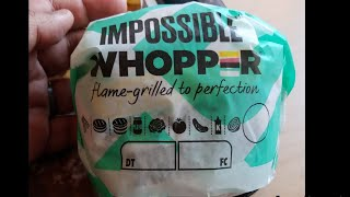 Burger King's Impossible Burger review