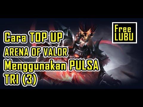 Cara Mudah TOP UP Arena of Valor dengan Pulsa Tri, 16rb Dapat Hero LUBU