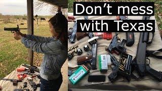 Постреляла в Техасе из Макарова, Colt - shooting in Texas 😜