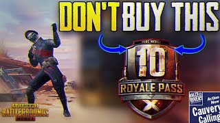DON'T BUY SEASON 10 ROYALE PASS IN PUBG MOBILE BEFORE WATCHING THIS VIDEO