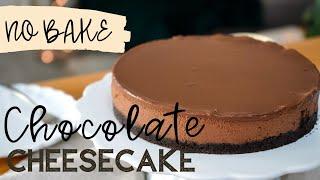 Ohne Backen: Chocolate Cheesecake - ohne Gelatine / cremiger Schokoladenkuchen / schmeckt wie Mousse