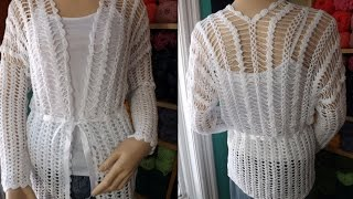 Crochet Hairpin Lace Cardigan - With Ruby Stedman