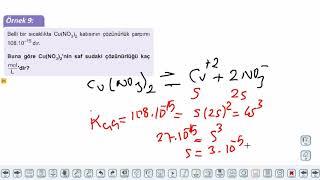 Eğitim Vadisi AYT Kimya 9.Föy Asit-Baz Dengesi 3 (Çözünme ve Çökelme Dengeleri) Konu Anlatım Videoları