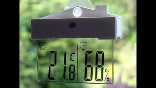 Шикарный цифровой Термометр на окно с AliExpress