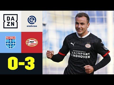 Traumdebüt! Mario Götze schießt PSV an Tabellenspitze: Zwolle - Eindhoven 0:3 | Eredivisie | DAZN
