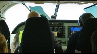 Взлет и посадка самолета Cessna Grand Caravan 208b. Рейс Усть-Илимск - Иркутск