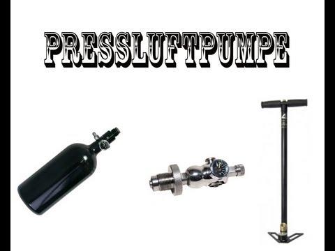 Paintball HP Flasche selber füllen....Pressluftpumpe!