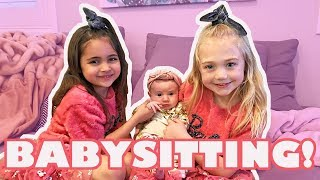 Everleigh and Ava babysit Posie for Sav & Cole! (The LaBrant Fam)