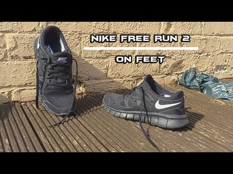 Nike Free Run 2 Black - On Feet