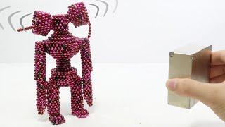 Siren Head Vs Monster Magnets   Make Siren Head (SCP-6789) With Magnetic Balls
