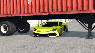 Cars vs Semi Trailer Trucks – BeamNG.Drive