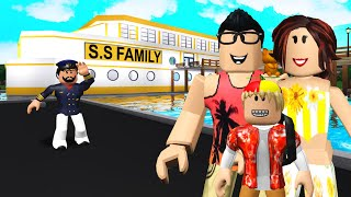 We Went On A FAMILY CRUISE.. But The Captain Trapped Our SON! (Roblox Bloxburg)