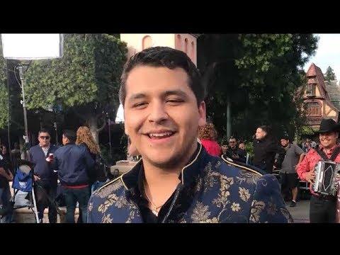 Christian Nodal Sings Adios Amor at Disneyland for Telemundo TV Show Un Nuevo Dia! (12-10-2017)