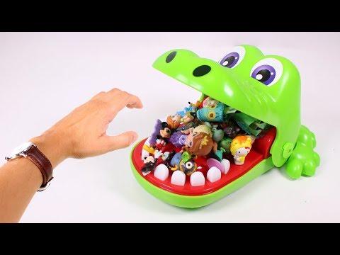 🐊 COCODRILO SACAMUELAS 🐊 Sacamos juguetes de boca del Cocodrilo Sacamuelas | Juguetes para niños