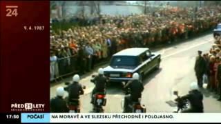 Kolona T613 Michail Gorbačov v Praze