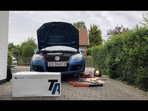 Installing Coilover Kit on mates VW GOLF V 03'   TA Technix Deep