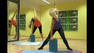 Pilates 40 min. mit dem Balance Pad. Workout with Balance Board.