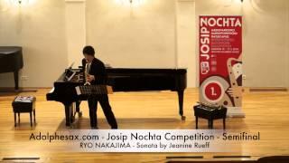 Adolphesax com Josip Nochta RYO NAKAJIMA Sonata by Jeanine Rueff