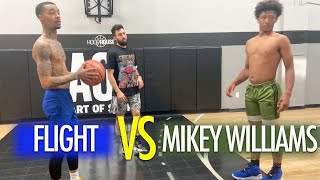 Mikey Williams Vs FlightReacts Was Filled With Trash Talk And Dunks!