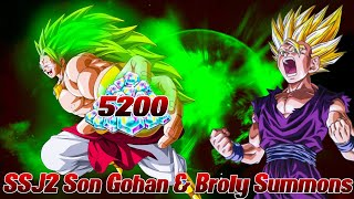 5200 Zeitkristalle SSJ2 Son Gohan & Broly Summons Opening! ;D | Dragon Ball Legends Deutsch