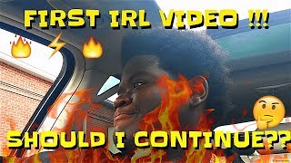 MY FIRST IRL VLOG! 🔥 should i continue?