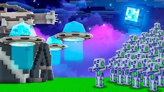 STEEL SPIKES vs 100 ROBOT ZOMBIES IN MINECRAFT!
