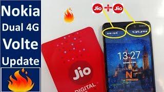 Nokia 6.1 2018 Dual Volte Update : Nokia Dual Volte Jio 4G + Jio 4G SIM Card : Dual Active 4G Volte