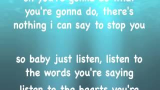 CHAD BROWNLEE - LISTEN - LYRICS