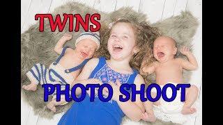 TWINS NEWBORN PHOTO SHOOT... 3 weeks too late