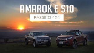 Passeio 4x4 - Volkswagen Amarok e Chevrolet S10