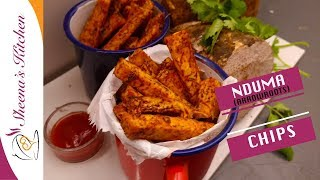 HOW TO MAKE NDUMA  OVEN ROASTED NDUMA CHIPS (Arrowroot chips)