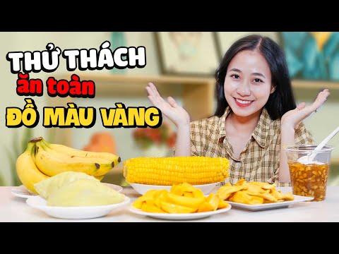 Thử Thách Ăn Hết Cả Bàn Đại Tiệc Toàn Màu Vàng | HIME Channel