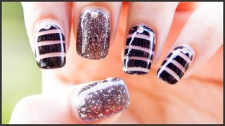 Black Diamond Nail Art Design | #ChipperNails