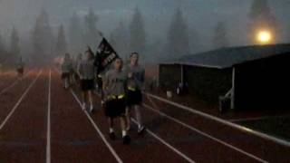 PLU ROTC: Battalion Run 08FEB2012