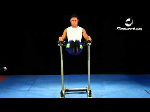 Hip Exercises -- Vertical Straight Leg Raise  -- Parallel Bars