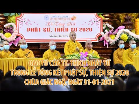 Đạo từ của TT. Nhật Từ trong Lễ tổng kết Phật sự, thiện sự của Chùa Giác Ngộ - Quỹ Đạo Phật Ngày Nay2020