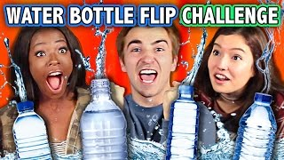 WATER BOTTLE FLIP CHALLENGE (ft. Teens React Cast)   Challenge Chalice
