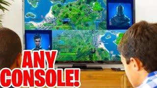 How to Split Screen in Fortnite! (XBOX, PS4 & NINTENDO SWITCH)