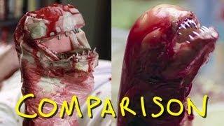 Alien - Chestburster Scene - Homemade with BlackNerdComedy (comparison)