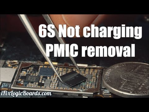 iPhone 6S Plus not charging - short on pmic line.