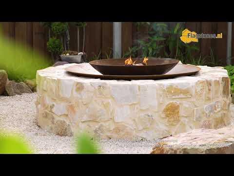 Firepit (vuurpot) - vuurschaal met Natuurstenen brokken