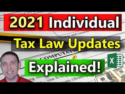 , title : 'New Tax Laws for 2021 Explained! 2021 Tax Reform 2021 Federal Income Tax Rules
