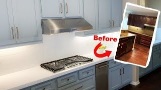 Dramatic Budget Kitchen Makeover | French Country | Blue Cabinets