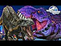 Indoraptor Vs Omega 09 Boss tiranossauo Mutante Jurassi
