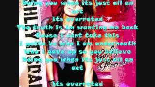 Ashley Tisdale - overrated OFFCIAL (instrumental/karaoke)