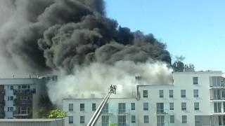 Pożar, Ulica Piękna, Wrocław 20170519 165239