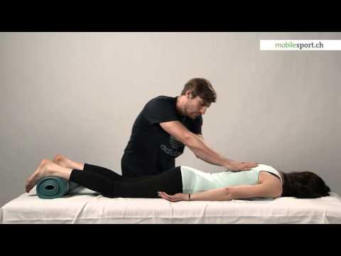 Massage Füße und das Kniegelenk