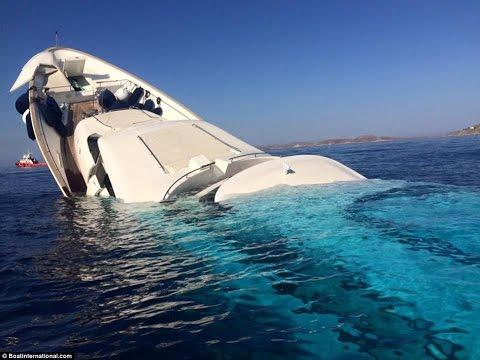 Luxury superyacht $6m sinking off Greek island of Mykonos