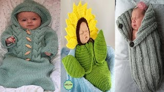 NewBorn Baby Knitted & Crochet Wrap Swaddle Blankets||Baby Tolder Knit  Blankets